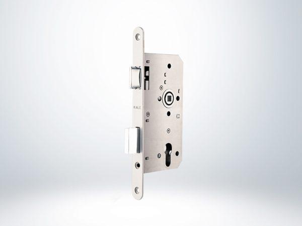 Kale Alman Tipi Silindirli Gömme Kilit - Oval Krom - 55mm - Silindirsiz - 150PZW00042