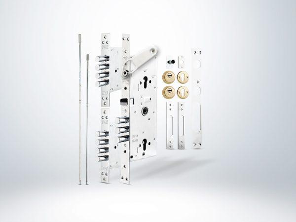 Kale Multisistem Merkezi Çelik Kapı Kilidi Gizli Emniyet Kelepçeli BNE+GMC Saten Rozetsiz - 63mm