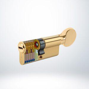 Kale Bilyalı Mandallı Silindir Çelik Pimli - Saten - 90mm - 164BME00060