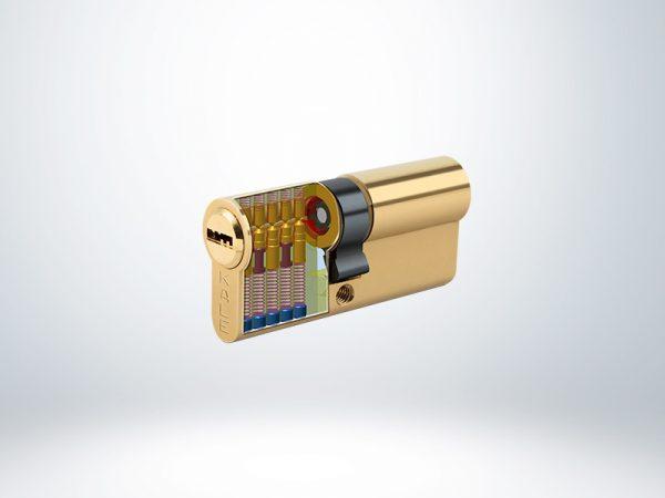 Kale Bilyalı Silindir Çelik Pimli Blisterli - Sarı - 68mm