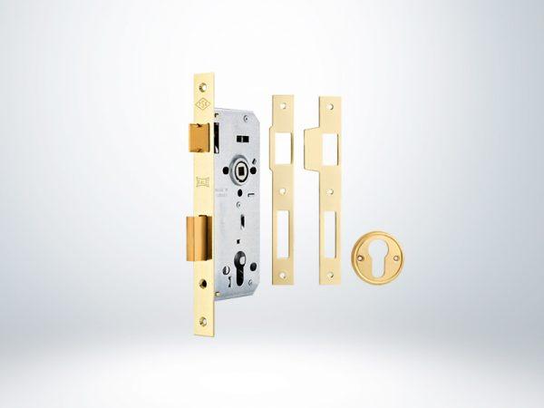 Kale Standart Silindirli Daire Kilidi Rulmanlı Rozet Delikli 45mm - NİKEL - 152R4500260