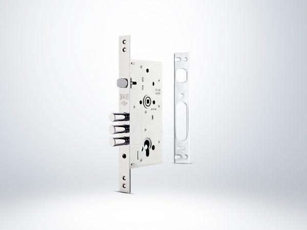 Kale Monoblok Çelik Kapı Kilidi - KROM (BN Saten Silindirli) - 60mm