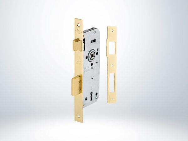 Kale Ekstra Gömme Kapı Kilidi Tek Anahtarlı Rulmanlı Rozet Delikli - Saten - 40mm - 151R4000030