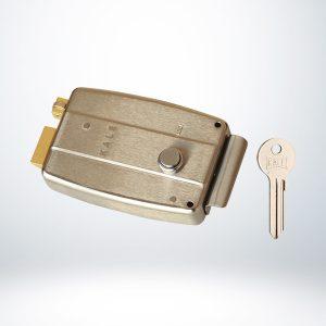 Kale Elektrikli Tirajlı Kilit - SATEN NİKEL ( SABİT SİLİNDİRLİ ) - 157EL000006