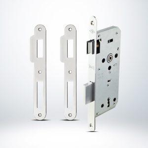Kale Ekstra Gömme Kapı Kilidi Tek Anahtarlı Rulmanlı Rozet Delikli Oval Krom - 45mm - 141R4500001