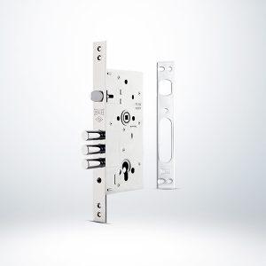 Kale Monoblok Çelik Kapı Kilidi - KROM (SN Saten Silindirli)