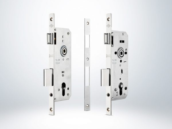 Kale Standart Silindirli Daire kilidi Rulmanlı Rozet Delikli 18 mm Aynalı 45mm - OVAL KROM - 152RP450002