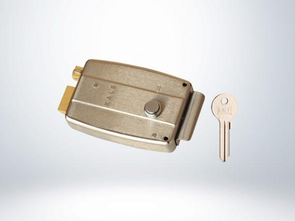Kale Elektrikli Tirajlı Kilit - SATEN NİKEL ( AYARLANABİLİR SİLİNDİRLİ ) - 157EL000002