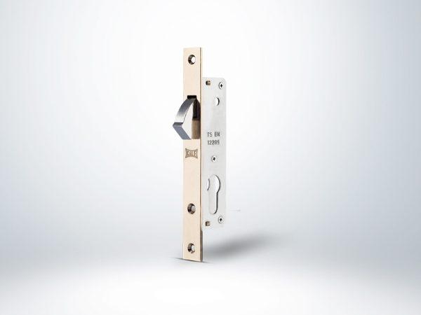 Kale Sürme Kapı Kilidi Dar Tip Blisterli - Nikel - 20mm