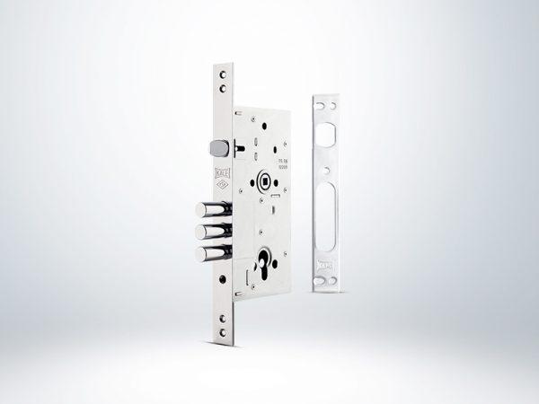 Kale Monoblok Çelik Kapı Kilidi - Krom - 60mm - Silindirsiz