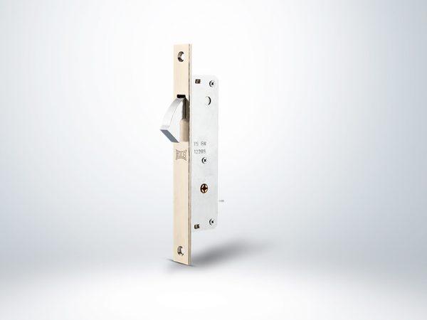Kale Prazis Silindirli Sürme Kapı Kilidi Dar Tip Blisterli - Nikel - 20mm