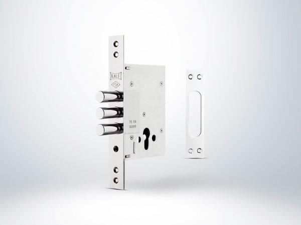 Kale Plus Çelik Kapı Emniyet Kilidi - KROM (GN Sarı Silindirli) - 60mm