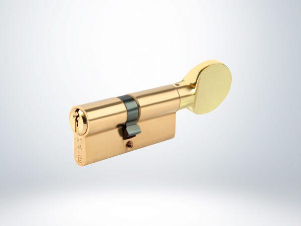 Kale Standart Mandallı Silindir Çelik Pimli Blisterli - Sarı - 68mm