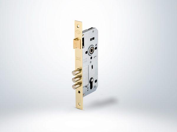 Kale Bilyalı Silindirli Daire Kilidi Rulmanlı Rozet Delikli 3 Milli (2000) Paslanmaz Ayna - 45mm
