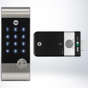 Yale Kartlı ve Şifreli Dijital Dıştan Takma Kilit (Ahşap Kapılar İçin) - YDR3110