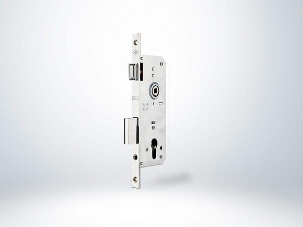 Kale PVC Doğrama İçin Silindirli Kapı Kilidi Rulmanlı Rozet Delikli - Krom - 40mm