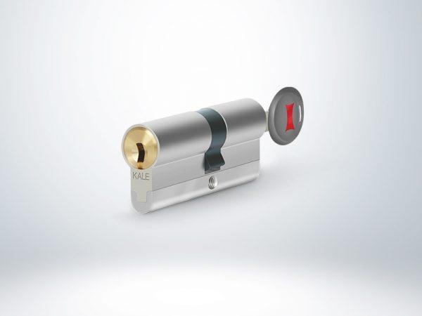 Kale Tüpten Şifreli Mandallı Silindir - Saten (5 Anahtarlı) - 68mm