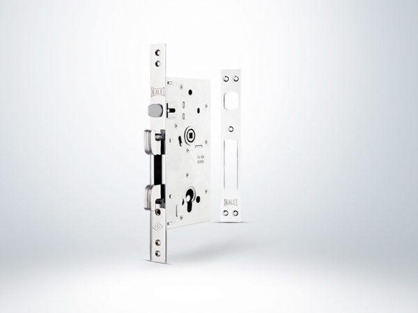 Kale Monoblok Champion Çelik Kapı Kilidi - KROM (SN Saten Silindirli) - 60mm