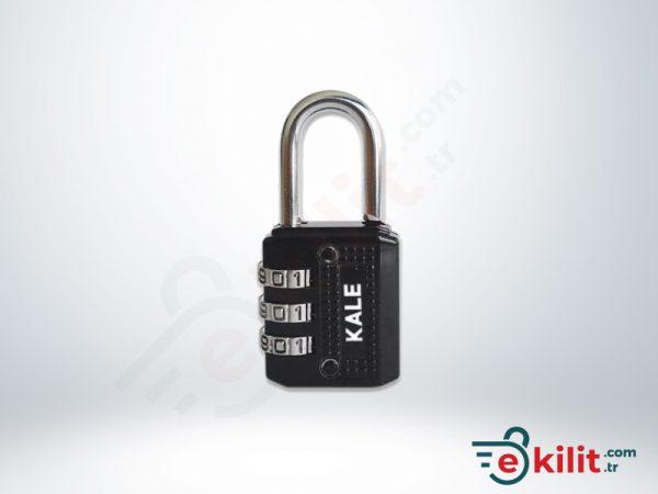 Kale Şifreli Asma Kilit - 3 Basamaklı Şifreleme - Siyah - KD001/20-700
