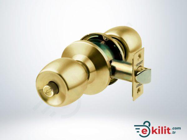 Kale Banyo ve WC Tipi Topuzlu Kilit - Sarı - KD040/35-301