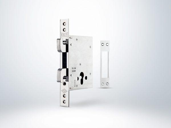 Kale Plus Champion Çelik Kapı Emniyet Kilidi - KROM (GN Saten Silindirli) - 60mm