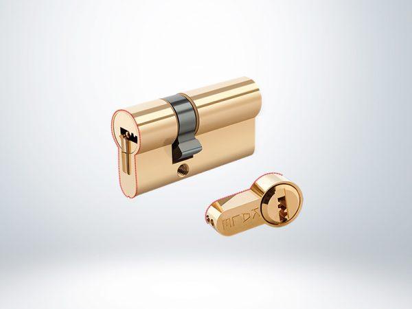 Kale Tuzaklı Sistem Silindir Çelik Pimli Blisterli - Sarı - 68mm