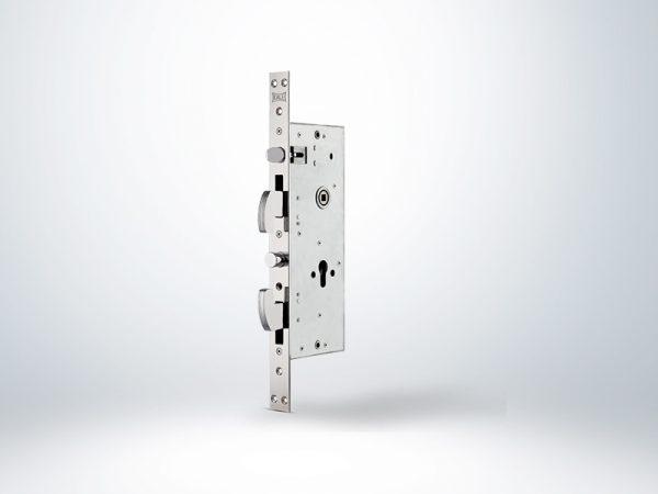 Kale Champion Çelik Kapı Kilidi Reversible- Krom (SN Sarı Silindirli) - 68mm