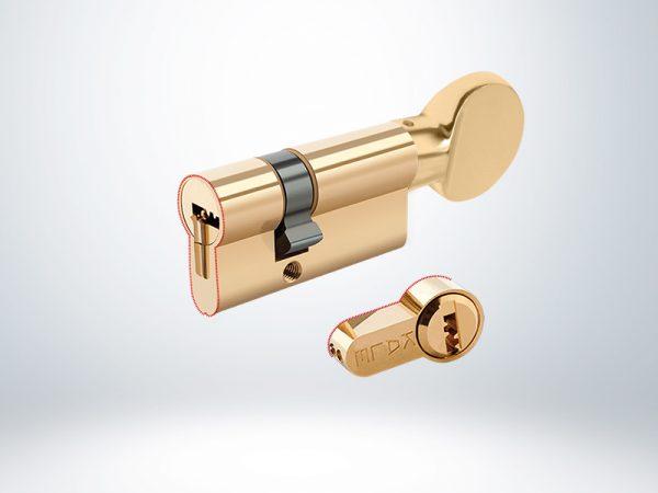 Kale Tuzaklı Sistem Silindir Çelik Pimli Blisterli - Saten - 68mm