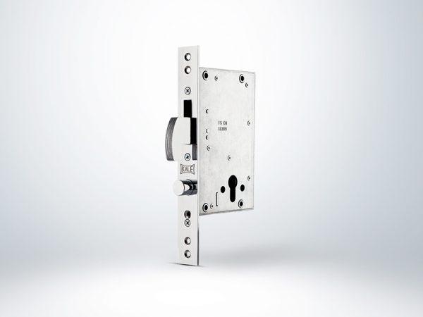 Kale Champion Çelik Kapı Emniyet Kilidi Reversible - Krom (SN Saten Silindirli) - 68mm