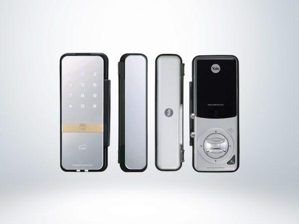 Yale Kartlı ve Şifreli Dijital Dıştan Takma Kilit (Cam Kapılar İçin) - YDG313