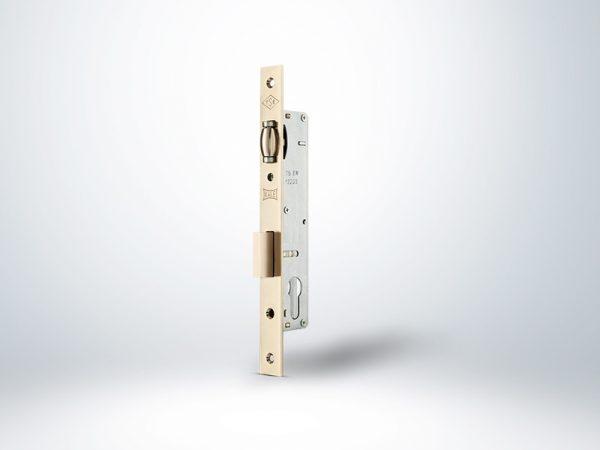 Kale Alüminyum Doğrama için Silindirli Kapı Kilidi Makaralı - Krom - 30mm - Silindirsiz