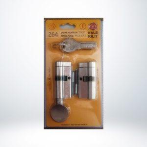 Kale Tuzaklı Sistem (KTBS+KTBSM) Silindirler - İkili Pas Sistem Blisterli - Saten - 68mm