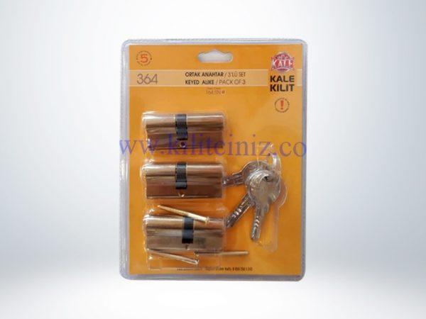 Kale Sistem Silindir Çelik Pimli - Üçlü Pas Sistem Blisterli - Sarı - 68mm