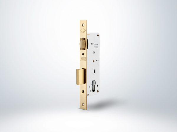 Kale Standart Silindirli Daire Kilidi Makaralı - Nikel - 35mm - Silindirsiz