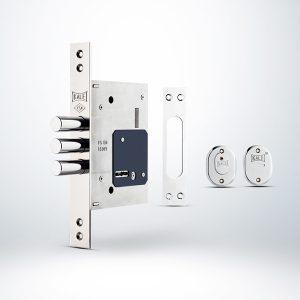 Kale Fişeli Çelik Kapı Emniyet Kilidi (3 Anahtarlı) - Krom - 60mm
