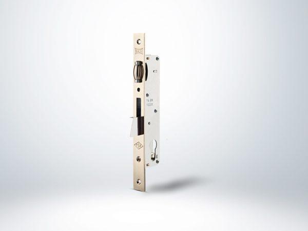 Kale Silindirli Düşme Dilli Makaralı Dar Kilit - Nikel - 25mm - Silindirsiz