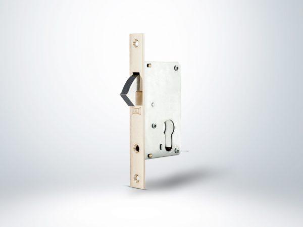Kale Silindirli Sürme Kapı Kilidi - Nikel - 40mm - Silindirsiz