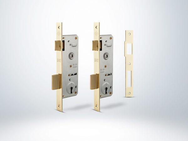 Kale Gömme Kapı Kilidi Tek Anahtarlı Blisterli - Nikel - 40mm