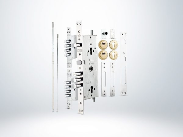 Kale Multisistem Merkezi Çelik Kapı Kilidi - KROM ( SMC+GNC Saten Silindirli ) Rozetsiz - 63mm