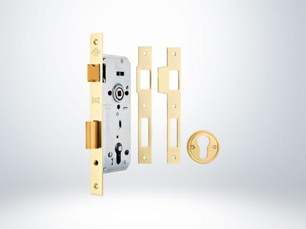 Kale Standart Silindirli Daire Kilidi Rulmanlı Rozet Delikli - Sarı - 45mm - Silindirsiz