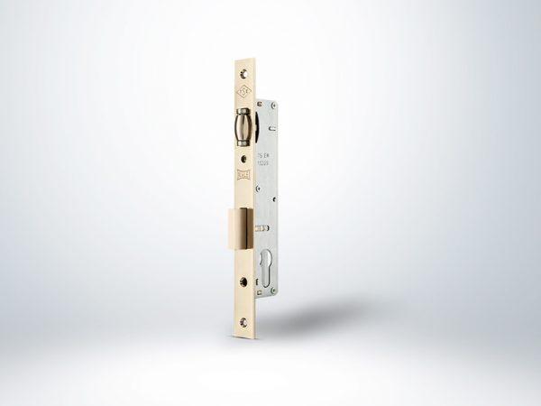 Kale Standart Silindirli Daire Kilidi Makaralı - Nikel - 20mm