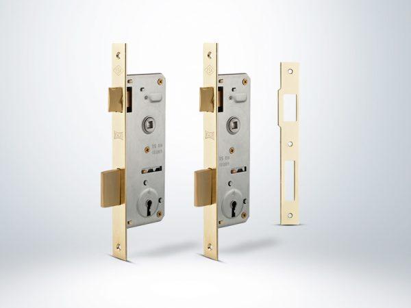 Kale Gömme Kapı Kilidi Tek Anahtarlı - Nikel - 15100000013