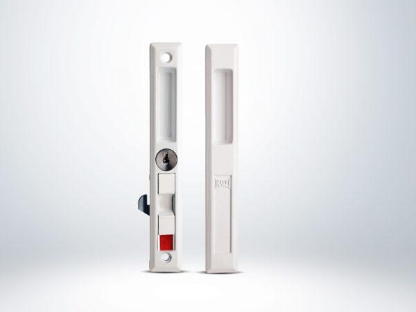 Kale PVC-ALÜMİNYUM Doğrama için Sürme Kilit Anahtarlı - Kahverengi