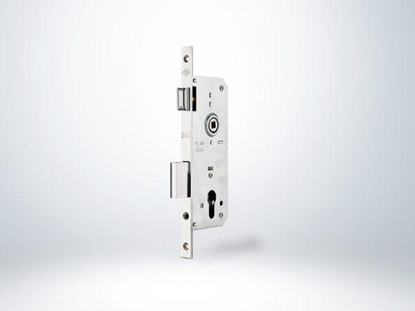 Standart Silindirli Daire kilidi Rulmanlı Rozet Delikli - Oval Krom - 45mm - Silindirsiz