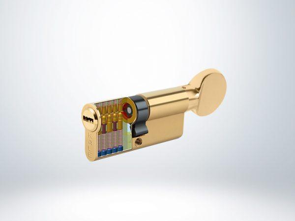 Kale Bilyalı Mandallı Silindir Çelik Pimli - Saten - 68mm - 164BME00007