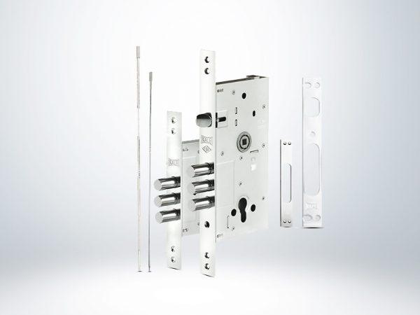 Kale Multisistem Yarı Merkezi Çelik Kapı Kilidi - KROM (SN Saten Silindirli) - 60mm