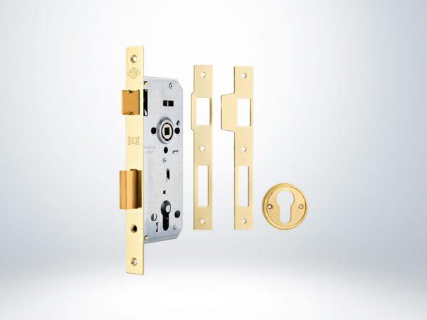 Kale Standart Silindirli Rozet Delikli Daire Kilidi Rulmanlı 3 Turlu - Sarı - 45mm - Silindirsiz