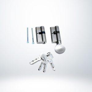 Yuma 68mm Çelik Kapı Barel Seti Tuzaklı Saten (Kapı Göbeği) - YM-B68BGS